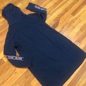 Tommy Hilfiger Dresses - Tommy Hilfiger Navy Blue Logo Hoodie Dress SZ XL